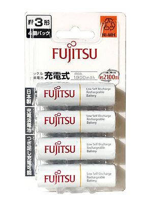 4 x AA Size Battery Fujitsu Rechargeable 1900mAh AA Eneloop Batteries Japan Made