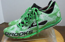 Men's sz 13 M green featherlite Brooks Mach15 7 racing track athletic shoes 1/6