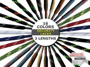 SECURITY-SHOELACES-16-Colors-3-Lengths-Laces-For-Work-Shoes-amp-Hiking-Shoes