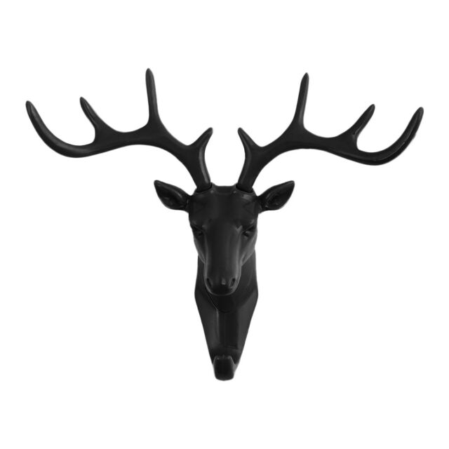 Deer Stags Head Hook Hanger Rack