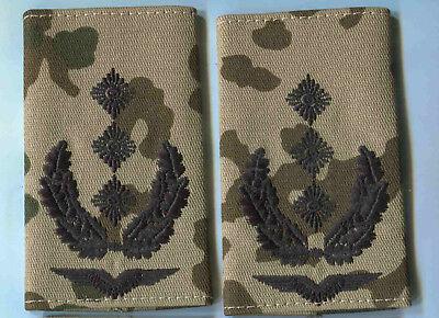Bundeswehr Rangschlaufen LW schwarz auf oliv Oberst 1 paar