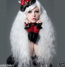 Hot Sell! Lolita Popular fluffy long curly white Cosplay wig