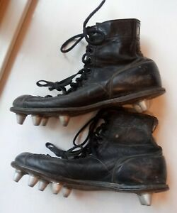 359764b73 Image is loading Vintage-1960s-Spot-Bilt-Leather-Football-Shoes-Removable-