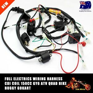 buggy wiring harness gy6 150cc chinese electric start kandi go yonghe dune buggy wiring harness gy6