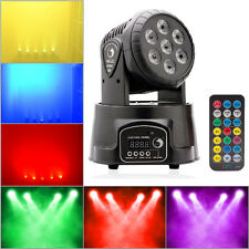 70W 7X RGBW LED Moving Head Stage Light DMX DJ Disco Party Lighting + Controller