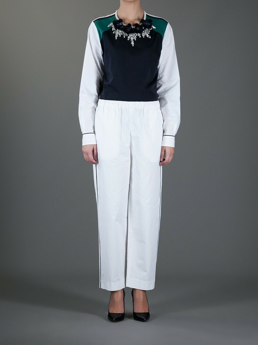 MARNI 2013 Summer Edition White Casual Sport Trousers Pants   - Medium   L27