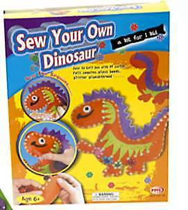 Sew Your Own Dinosaur Felt Craft Kit Age 6+