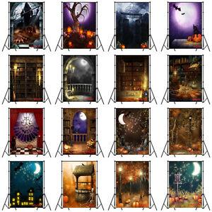 16 Type Halloween Skull Night Moon Vinyl Studio Photography Backdrop Background