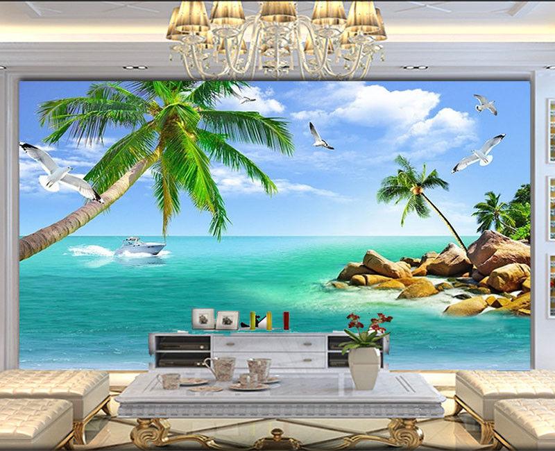Plausible Sober Sea 3D Full Wall Mural Photo Wallpaper Printing Home Kids Decor