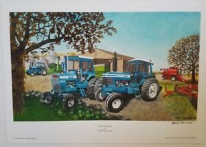 Russell Sonnenberg Farmall tractor art print titled Harvest Partners
