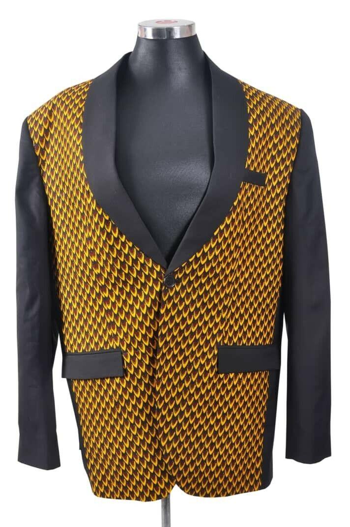 African Print Wax Men's Suit, Complete Set 100% Cotton. Men L