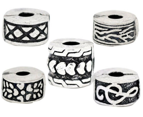 10 Mixed Stopper Clip/&Locks Fit Charm Bracelet 11mm