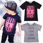 2016 Kids Baby Boy Clothes Summer Short Sleeve Print T-shirt Tees Tops Shirts