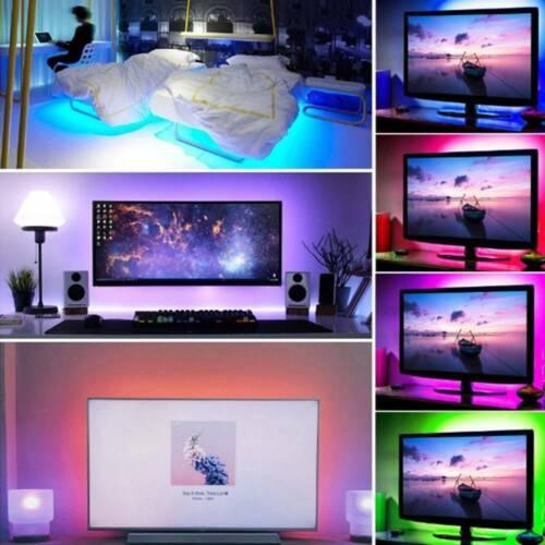 0.5-3.0M 5050 RGB LED Strip Waterproof USB LED Light Strips Flexible Tape DC 5V