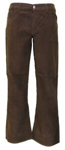 Mens-Vintage-60s-70s-Retro-Brown-Bootcut-Flared-Cords
