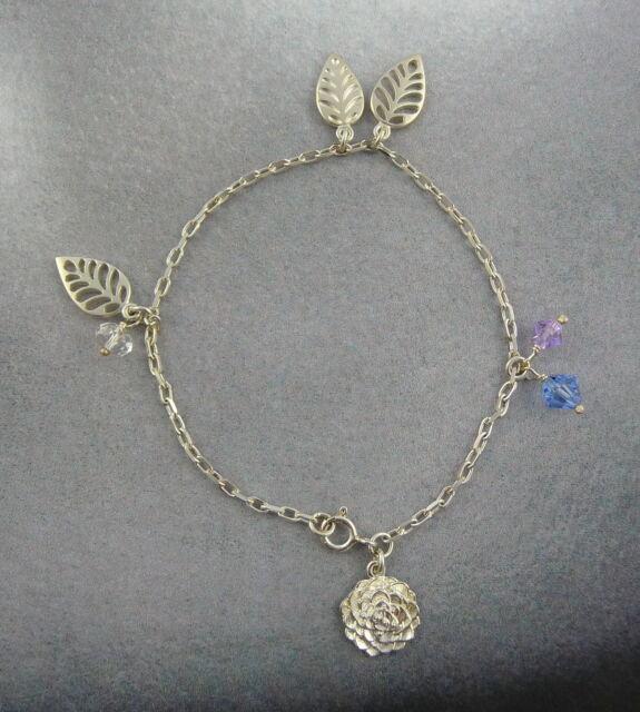 Scottish Ola Gorie Silver Kimono Charm Bracelet Boxed