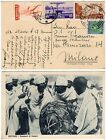 507 - Colonie, Eritrea - Affrancatura multicolore su cartolina da Asmara, 1939
