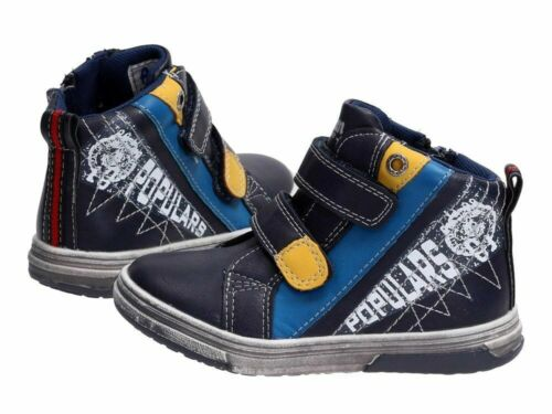 Boys Autumn Winter Ankle Hi Top Zip School Shoes Leather Insole Size UK 7-12.5