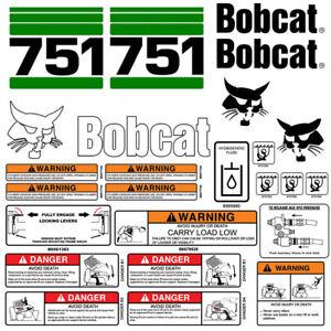 Details about Bobcat 751 Skid Steer Set Vinyl Decal Sticker bob cat USA -  25 PC SET