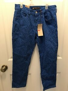 LEVIS-Mid-Rise-Ankle-Skinny-Jeans-Women-039-s-8p-petite-Royal-Blue-NWT