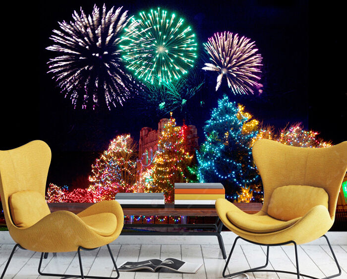 3D Christmas Firework 72 Wall Paper Wall Print Decal Wall Deco Indoor Wall
