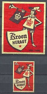 Kroon-Heraut-Safety-Matches-Vintage-Matchbox-Labels-Big-and-Normal-Size