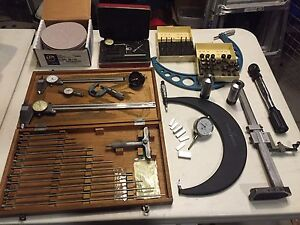 Lot Of Machinist Tools Mitutoyo Starrett Micrometers Calipers Quot As Is Quot Ebay