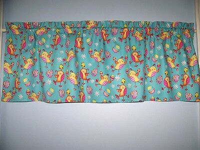 Easter Chicks Colored Eggs Valance Curtain Candy Egg Color Basket