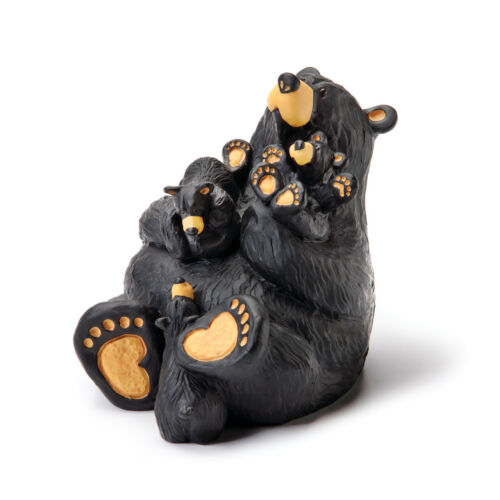 DEMDACO Home Again Black Bear 4 x 4 Hand-cast Resin Figurine Sculpture