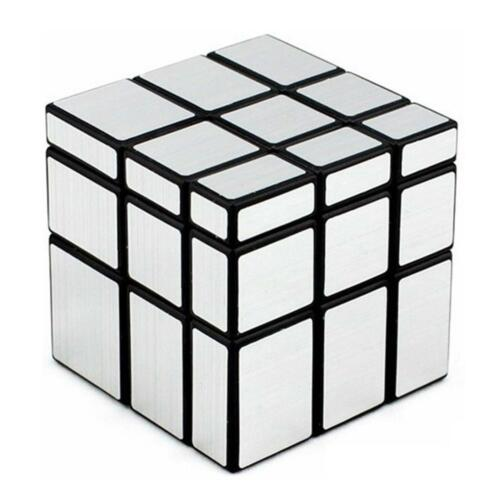 3x3x3 Cute Silver Speed Twist Puzzle Toy Unique Educational Magic Cube Plaything