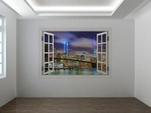 43614315ww Manhattan skyline photo window wall sticker wall mural