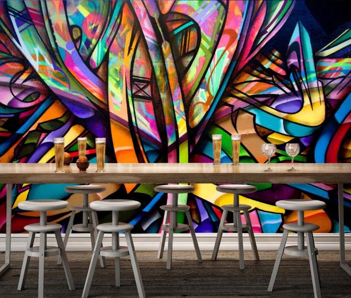 3D Farbeful Graffiti 8 Wall Paper Murals Wall Print Wall Wallpaper Mural AU Kyra