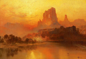 The-Golden-Hour-by-Thomas-Moran-Handmade-Oil-Painting-Reproduction-36-034-x-24-034