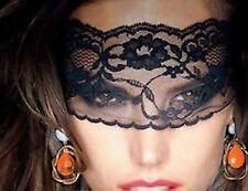 Black Sexy Lace Mask/Veil Blindfold Catwoman Bondage Night Club Belly Dance