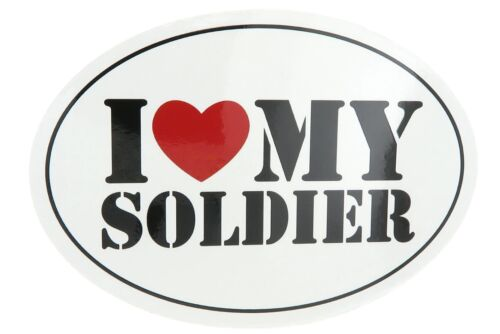 U.S. Army I Love My Soldier USA Military Oval Car Refrigerator Magnet
