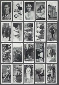 1937-Wills-039-s-Cigarettes-Our-King-And-Queen-Tobacco-Cards-Complete-Set-of-50