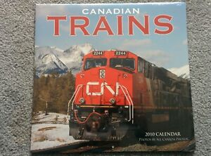 Canadian Trains 2010 CALENDAR can use again THIS YEAR IN 2021