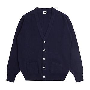 Community-Clothing-Women-039-s-Navy-Wool-Cardigan