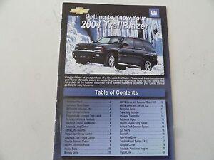 2004 chevrolet trailblazer quick reference guide owners manual supplement ebay 2004 Trailblazer Custom 2004 Trailblazer Engine Diagram
