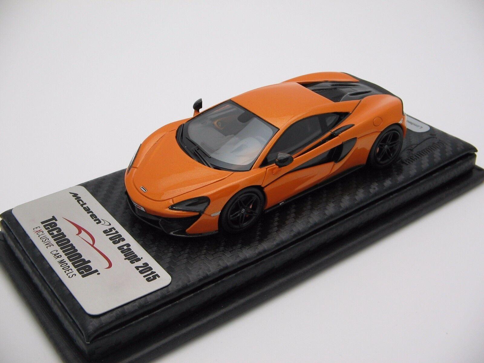1 43 Scale Tecnomodel McLaren 570s Tarocco orange N.Y AUTOSHOW 2016 t43-ex02a