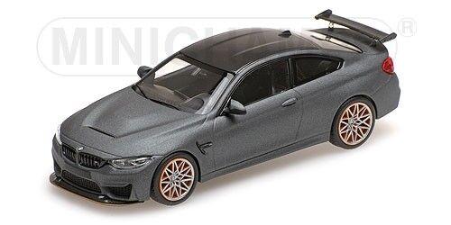 Bmw M4 Gts 2016 Matt Grey With orange Wheels MINICHAMPS 1 43 410025220
