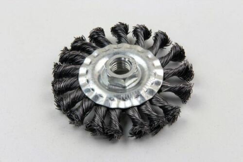 Steel Twist Knot Box Of 4 2129 VEWERK 100MM Wire Flat Wheel Brush