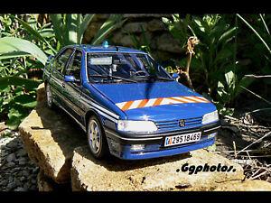 Peugeot 405 T16 Gendarmerie Bri Otto Boite Boxed 1/18 Ottomobile Ottomodels 500e