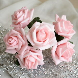 72pcs blush pink flowers foam roses for wedding bouquets image is loading 72pcs blush pink flowers foam roses for wedding mightylinksfo