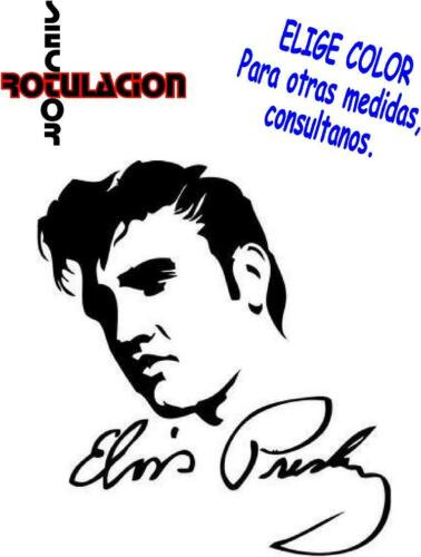 ref1461 Elvis Presley Music ROCK AND ROLL BAND PEGATINA VINILO STICKER ADHESIVO