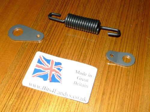 Stainless A2 Anchor Plates Hand Brake /& Spring Kit 4 Land Rover Series 2 2a /& 3