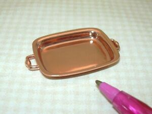 Miniature-Copper-Colored-Metal-Roaster-Pan-DOLLHOUSE-Miniatures-1-12