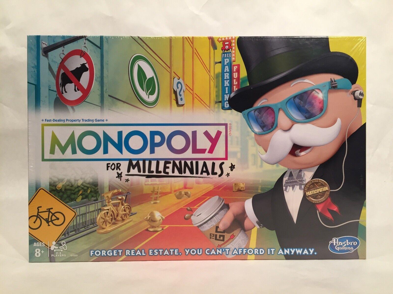 a buon mercato Monopoly for Millennials tavola gioco • Hasbro Hasbro Hasbro Gaming    Parker Brossohers •nuovo   negozio d'offerta
