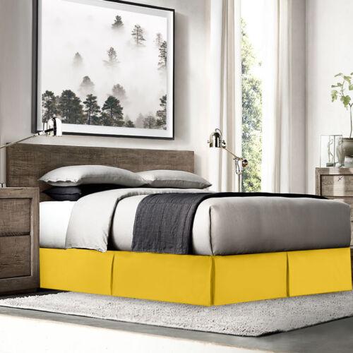 "14"" Drop Dust Ruffle Premium Luxury Pleated Tailored Bed Skirt Twin Yellow"