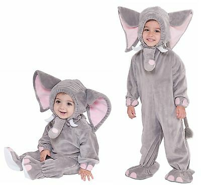 Kids Elephant Costume Infant Toddler Jumpsuit Gray Halloween Outfit Girls Boys